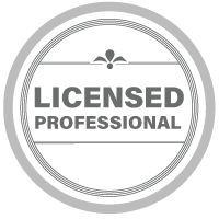 Licensed professional badge